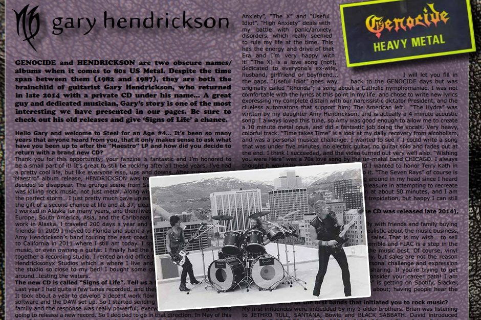 GENOCIDE and HENDRICKSON Interview